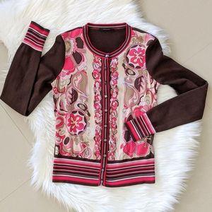 Vintage Elie Tahari Silk And Wool Cardigan